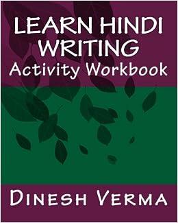 Book Learn Hindi Writing Activity Workbook