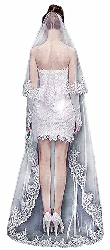 Butmoon Women's Wedding Accessories 3 Meters Long Cathedral Bridal Veil