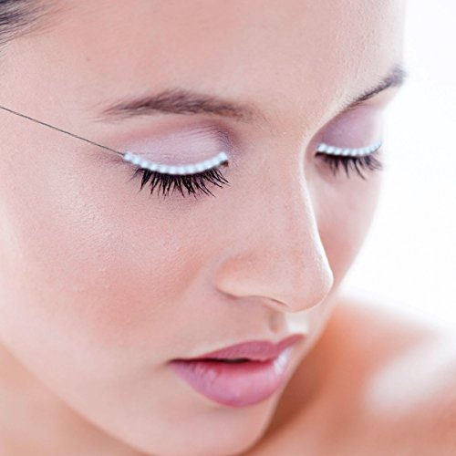 Homate LED Eyelashes, Waterproof LED Light F. Lashes Luminous Shining Charming Eyelid Tape with 7 Modes to Switch for Party Bar Night Club Concerts