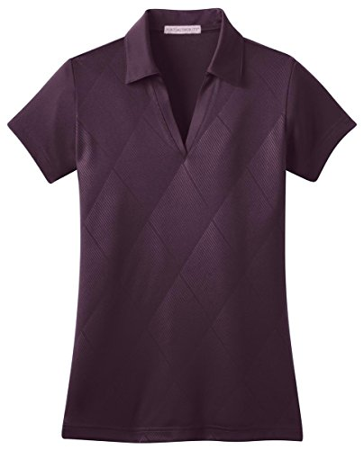 Port Authority Ladies Tech Embossed Polo, Bermuda Purple, XXX-Large