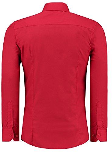 slimcoupe Jeel longuesmariage homme droite6xl shirt loisirfer 205 rouge manches facilecoupe 8OXnPw0k