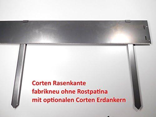 10 x Bordes para césped Acero Corten Acero estrecho 14 cm mähkante ...
