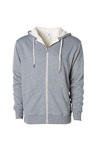 Independent Trading Co. Unisex Sherpa Lined Hooded Sweatshirt, Salt Pepper, XXL