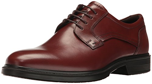 ECCO Men's Lisbon Plain Toe Tie Oxford, Cognac, 44 EU/10-10.5 M US Ecco Plain Toe Oxfords