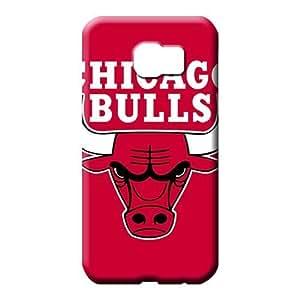 SOKY(TM)¡ê¡§2 Pack¡ê? samsung galaxy s6 cases Plastic Awesome Look mobile phone case Chicago Bulls NBA Basketball logo