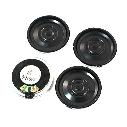 Aexit 4 Pcs 1.5W 8 Ohm 28mm Internal Magnetic DVD EVD Player Audio Speaker by Aexit