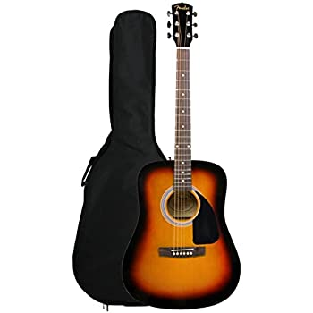 Fender FA-100 Limited Edition Dreadnought Acoustic Guitar with Gig Bag - Sunburst