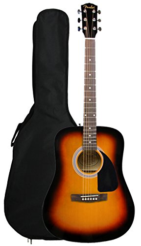 Fender FA-100 Limited Edition Dreadnought Acoustic Guitar with Gig Bag – Sunburst