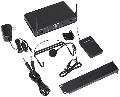 Samson Concert 88 Headset 16-Channel True Diversity UHF Wireless System (Channel D) by Samson Technologies