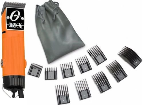New Oster Classic 76 Orange Color Limited Edition Hair Clipper 10 PC Comb Set