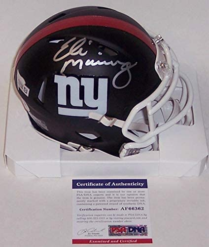 New York Giants PSA//DNA Autographed Full Size Riddell Speed Football Helmet Eli Manning