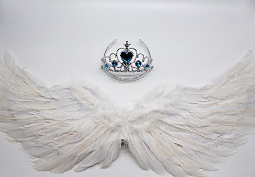 Children show angel feathered wings,W Fashion shop White Angel Wings & headband (White Angle Wings)