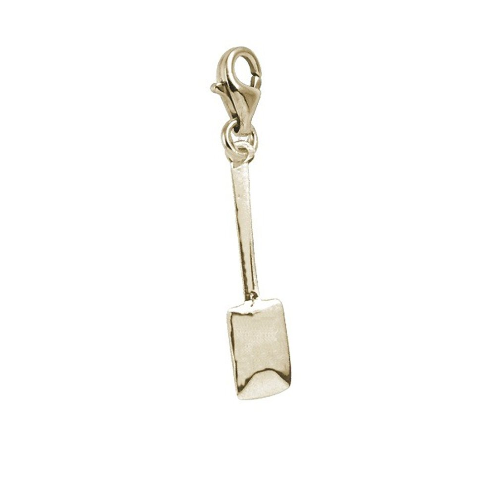 Charms for Bracelets and Necklaces Spatula Charm With Lobster Claw Clasp