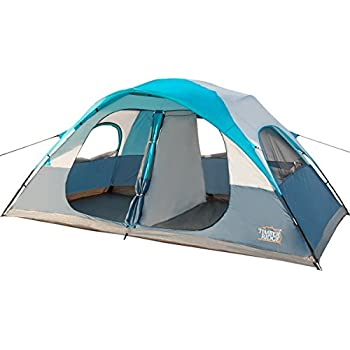 Timber Ridge WF140874TU 9x10x27-Inch 8-Person Tent with Carry Bag 2 Doors and 2 Rooms Turquoise  sc 1 st  Amazon.com & Amazon.com : North Gear Camping Deluxe 8 Person 2 Room Family Tent ...