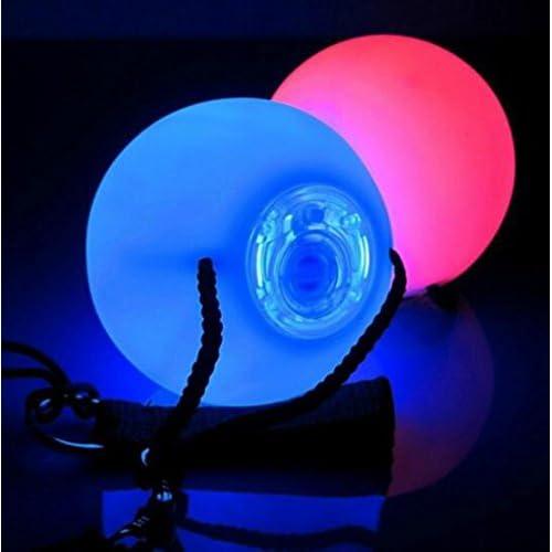 JOYOOO Glow Jonglage Balles-2x LED Balles lumineuses pour jongler