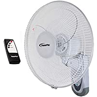 POWERPAC 16 Inch Wall Fan with Remote Control, PPWF40R