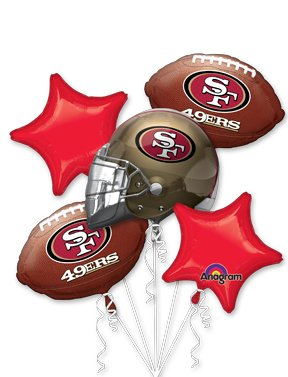 Anagram International Bouquet 49ers Party Balloons, Multicolor