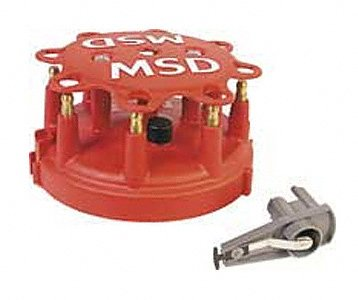 MSD 8482 Distributor Cap and Rotor Kit (Ford Custom Distributor Cap)