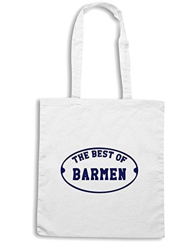 T-Shirtshock - Bolsa para la compra BEER0287 The-Best-of-Barmen-Magliette Blanco