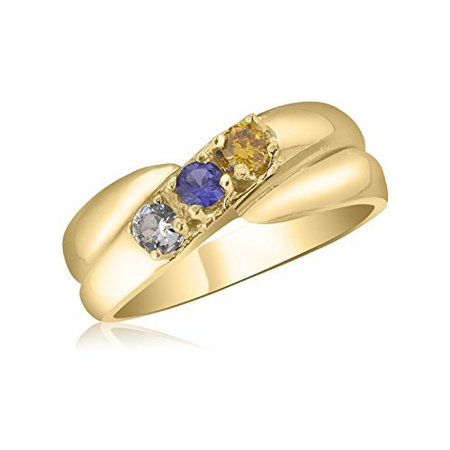 sover Ring - 3 Birthstone Family Ring ()