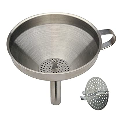 Norpro 4-3/4-Inch Stainless SteelFunnel with Strainer 245