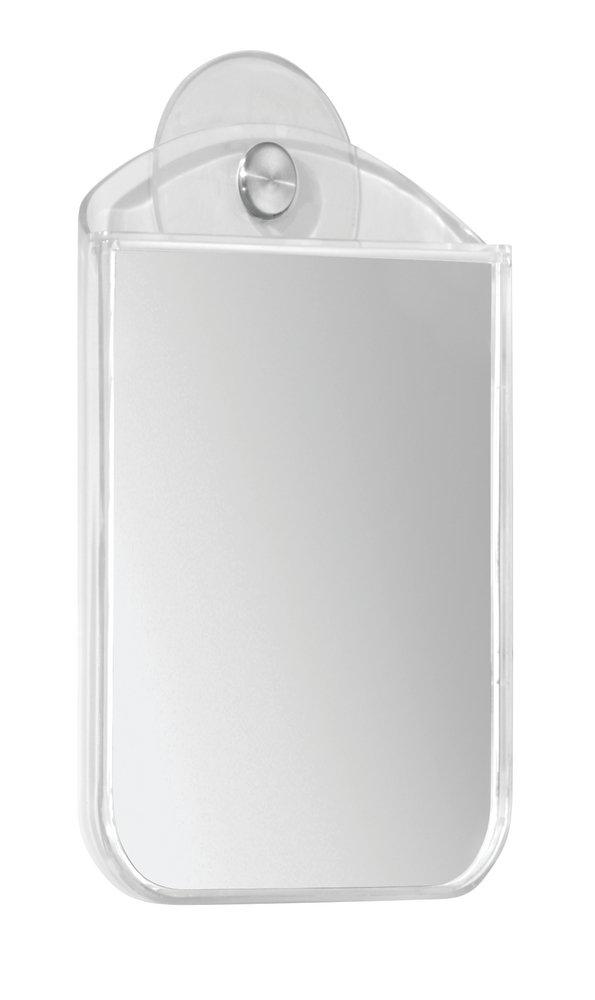mDesign specchio da barba e per make up – cromato – antiappannamento – perfetto per il bagno – anche per bambini MetroDecor