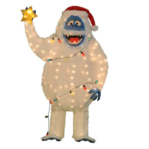 pre lit bumble with star and santa hat - Abominable Snowman Rudolph Christmas Decoration
