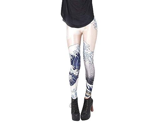 ADELINA Medias Pantalones Moda Impreso Niña Elástico De ...