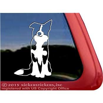 Border Collie Sticker Vinyl Auto Window v2 sheep dog Mister Petlife PD-0466