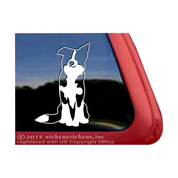 Border Collie Dog Vinyl Window Auto Decal Sticker DC138 1