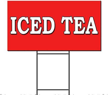 Té helado alimentos justo camión restaurante carro Plastic Yard Sign/libre juego