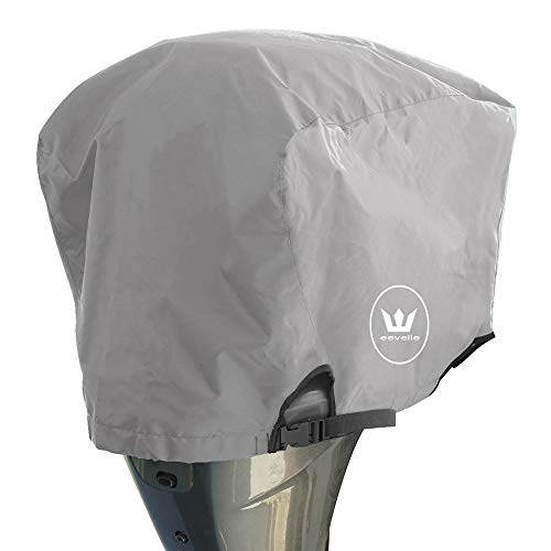 Windstorm Outboard Boat Motor Covers Heavy Duty 600D Polyester Marine Canvas - 9 Colors (Silver, 225 to 300 HP)
