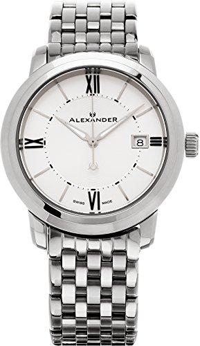 Alexander Heroic Macedon Men's Silver Dial Stainless Steel Swiss Made Watch A111B-04