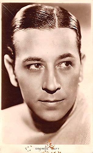George Raft Movie Star Actor Actress Film Star Postcard, Old Vintage Antique Post Card Unused - George Raft Actor