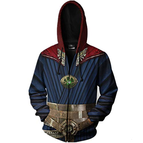 Strange Costume Deluxe Dr Outfit 3D Hoodies Unisex Thanos Hoodie Funny Hoodies Fashion Halloween Costume -
