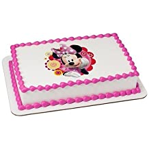 Minnie Mouse Dots & Daisies Licensed Edible Cake Topper #8259