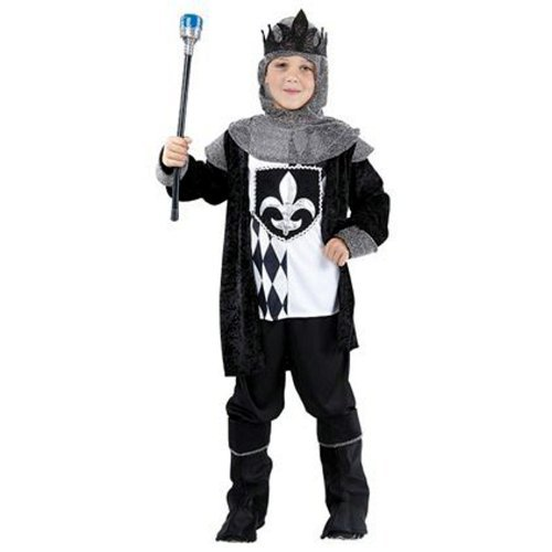 Chess Musical Costumes (Medieval Knight Costume Boys Knight Tudor King Chess Fancy Dress Costume 4-12 yr SMALL by Star55)