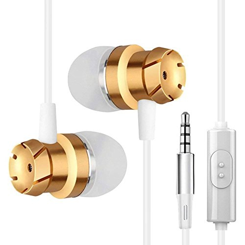 Earphones In Ear Headphones Earbuds with Microphone for iPhone Android Smartphone Tablet Laptop 3.5mm Audio Plug...