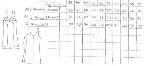 Cybele Südtrikot Unterkleid 14235 schwarz weiß puder Gr. 38 - 60 Farbe Puder, Größe 56