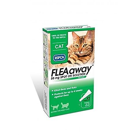 RSPCA - solución antipulgas para gatos, 50 mg: Amazon.es: Productos para mascotas