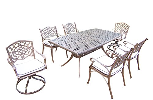 Oakland Living Mississippi 7-Piece Set with 70 by 38-Feet...