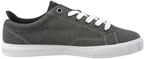 North Pepe New Jeans Blau Sneakers Chambray Basses Fabric Black Noir Homme P4qE1wU