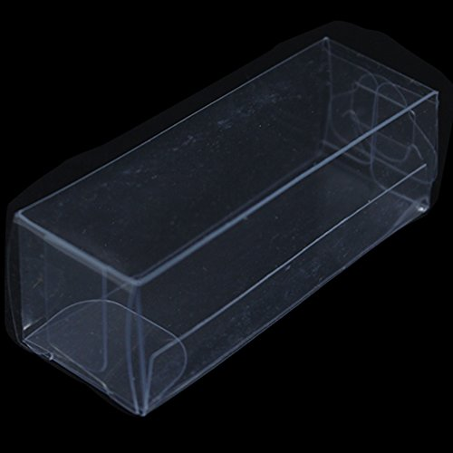 PVC Clear Plastic Packaging Boxes Jewelry Wedding Party Favor Candy Food Storage Pack Box Flower Take Out Container Case (50, 2.3x2.3x7cm(0.9''x0.9''x2.76''))