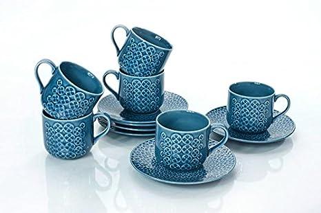 Amazon.com: Yedi Houseware Classic Coffee and Tea Cups & Saucers ...