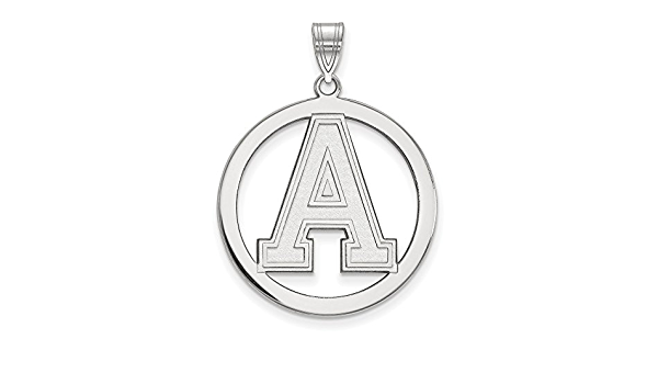 Military Academy 19 mm 12 White Sterling Silver Charm Pendant New York NCAA U.S