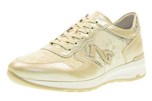 NERO GIARDINI las mujeres zapatillas de deporte bajas P717043D / 702 Beige