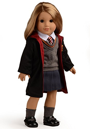 Sweet Dolly Magic Outfits Witchcraft School Uniform Doll Clothes For 18 inch American Girl Doll (Hogwarts School Uniform)