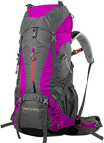 BAJIMI アウトドアハイキングキャンプ旅行60 + 5Lプロフェッショナルリュック内部フレームバッグ/パウダーのための防水バックパック