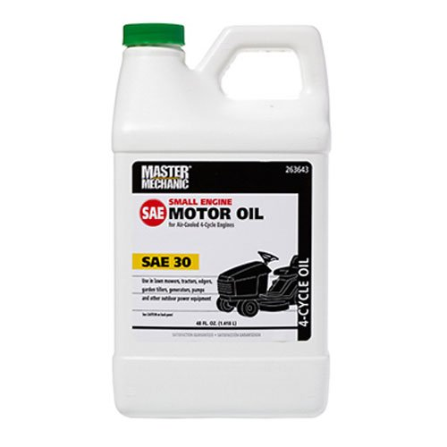 OLYMPIC OIL 263643 SAE30 Master Mechanic 4-Cycle Riding Mower Engine Oil, 48-Ounce