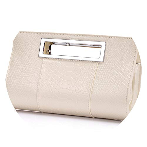 Hot Handbag Alligator Desig Phone Bags Bride Wedding Party ning Bag Girls Bolsas,Creamy white